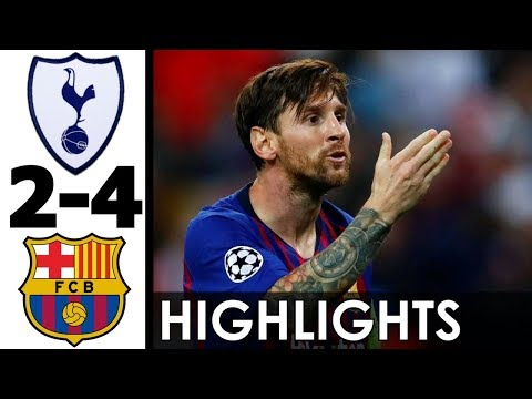 Tottenham vs FC Barcelona 2-4 Goals and Highlights w/ English Commentary (UCL) 2018-19 HD 720p