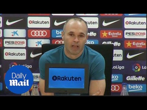 Andres Iniesta announces he's leaving Barca after this season – Daily Mail