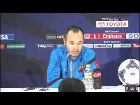 FC Barcelona – Iniesta's press conference prior to match against Al Sadd