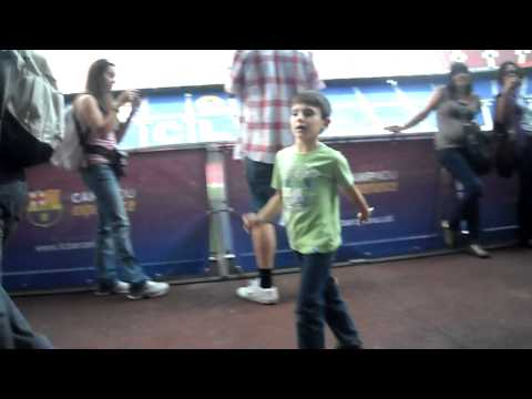Nou Camp Tunnel – Barcelona FC Tour – October 2010