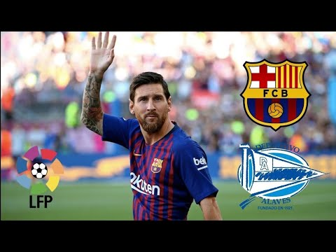 Fc Barcelona Vs Alaves (Full Match) English