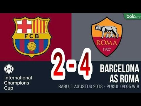 Barcelona vs AS Roma (2-4) full higlight and all goals ICC 01/08/2018