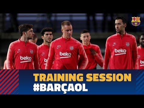 BARÇA 5-1 LYON   Full training session before facing Lyon