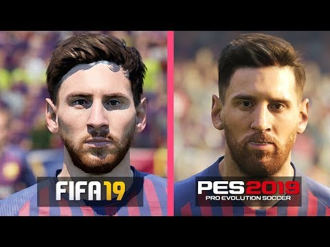 FIFA 19 vs PES 2019 | FC Barcelona Players Faces Comparison
