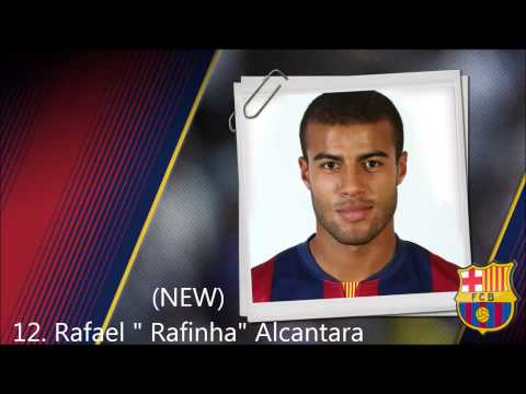 All the players of Barcelona 2014-2015