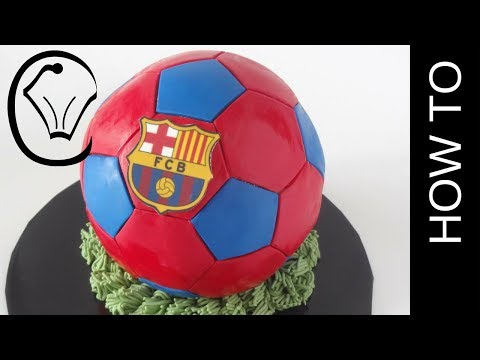 FC Football Cake Barcelona Soccer Ball Cake by Cupcake Savvy's Kitchen