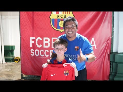 FC Barcelona 8 years old New Player! Dream Came True!