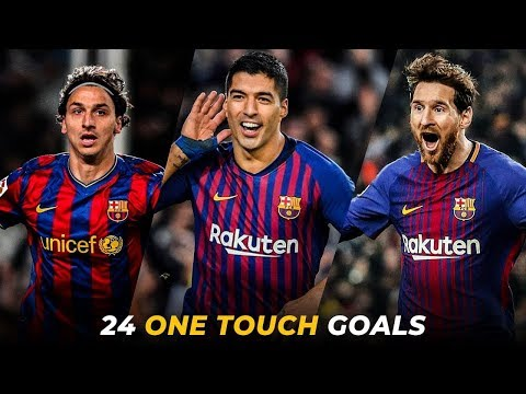 FC Barcelona – 25 Craziest One Touch Goals Ever | HD
