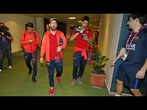BEHIND THE SCENES – FC Barcelona, to Qatar and back with a friendly in between