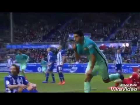 Fc barcelona vs Deportivo alaves 6 0 la liga 11 2 2107