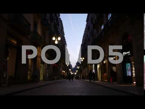 Barcelona, Spain – Timelapse – Evening – People Walking and Shopping – 4K – Pond5