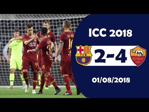 Barcelona vs AS Roma 2-4 Highlights | International Champions Cup 1/8/2018