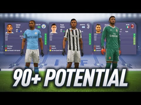 FIFA 18 CAREER MODE – ALL PLAYERS WITH 90+ POTENTIAL!!!