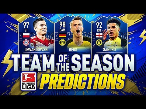 FIFA 19 | BUNDESLIGA TEAM OF THE SEASON | TOTS PREDICTIONS | w SANCHO HAZARD LEWA & 98 REUS!!