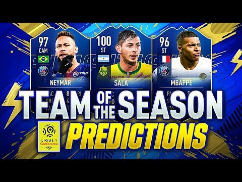 FIFA 19 | LIGUE 1 TEAM OF THE SEASON | TOTS PREDICTIONS | w NEYMAR DEPAY MBAPPE & 100 SALA!!
