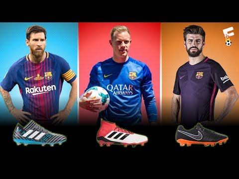 Barcelona Football Boots 2018 ⚽ Barcelona Boots LineUp ⚽ Botas de fútbol Barcelona ⚽ Footchampion