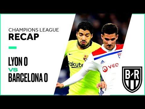 Lyon vs. Barcelona Champions League Round of 16 Leg 1 FULL Match Highlights: 0-0