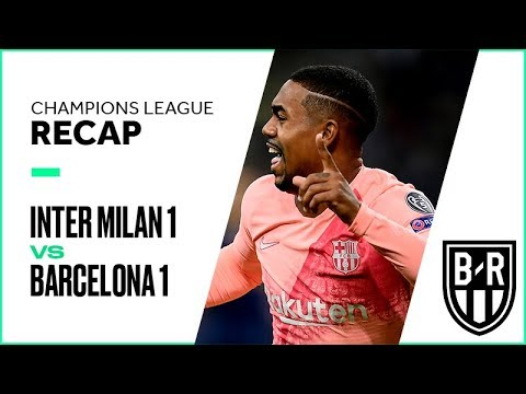 Inter Milan vs. Barcelona Champions League Group Stage FULL Match Highlights: 1-1