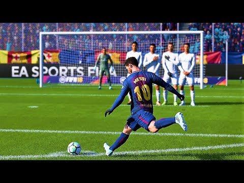 FIFA 18 LIONEL MESSI FREE KICK GOALS COMPILATION
