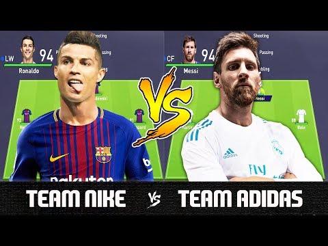 Team Nike VS Team Adidas – FIFA 18 Experiment