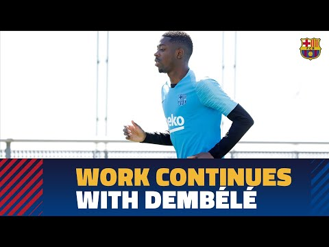 Dembélé continues recovery in the second training session of the week