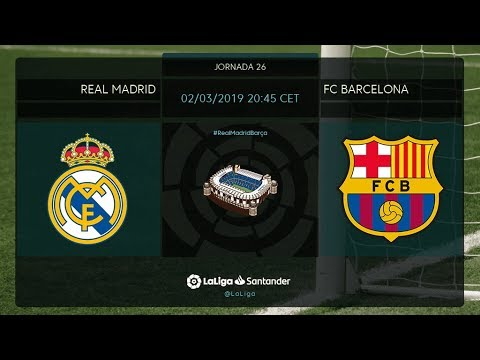 Calentamiento Real Madrid vs FC Barcelona