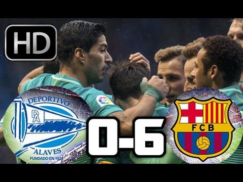 Deportivo Alaves 0-6 Barcelona| RESUMEN Y GOLES HD| LIGA ESPAÑOLA| 11-02-17