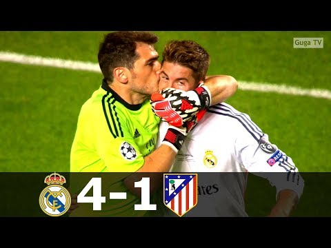 Real Madrid vs Atletico Madrid 4-1 (aet) – UCL 2014 Final – Highlights (English Commentary) HD