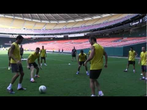 FC Barcelona – One touch possession drill