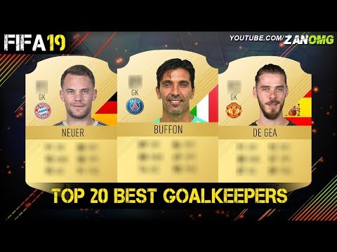 FIFA 19 | TOP 20 BEST GOALKEEPERS RATING PREDICTION!! | FT. BUFFON, DE GEA, NEUER…etc