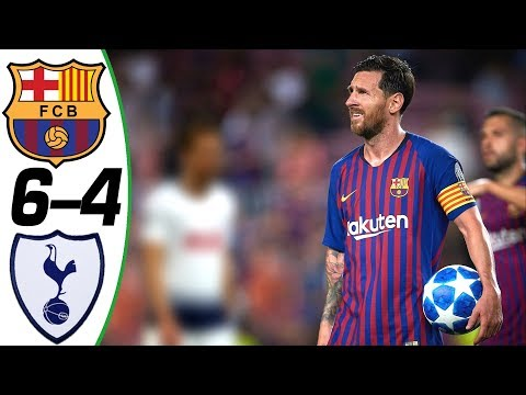 Barcelona vs Tottenham 6-4 – All Goals & Extended Highlights – Résumén y Goles ( Last Matches ) HD