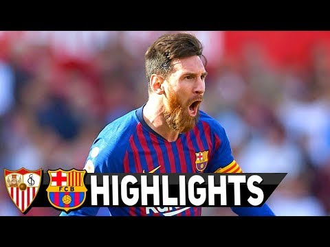 Sevilla vs Barcelona 2-4 All Goals & Full Etended Highlights HD 23/2/2019
