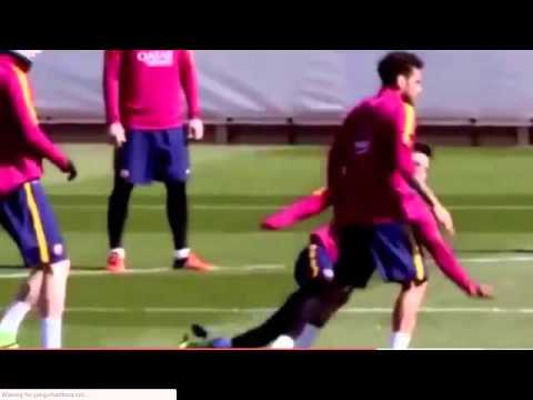 Lionel Messi had an embarrassed slip during Barcelona's training – Football Results