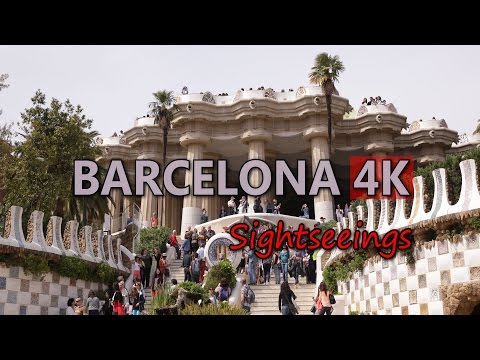 Ultra HD 4K Barcelona Travel Spain Tourism Tourist Attraction Sightseeings UHD Video Stock Footage