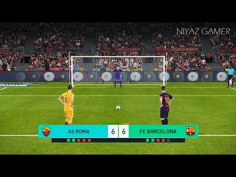 AS ROMA vs FC BARCELONA | Penalty Shootout | PES 2018 Gameplay PC