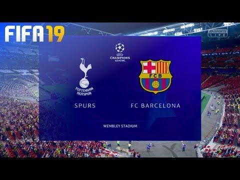 FIFA 19 – Tottenham Hotspur vs. FC Barcelona @ Wembley Stadium