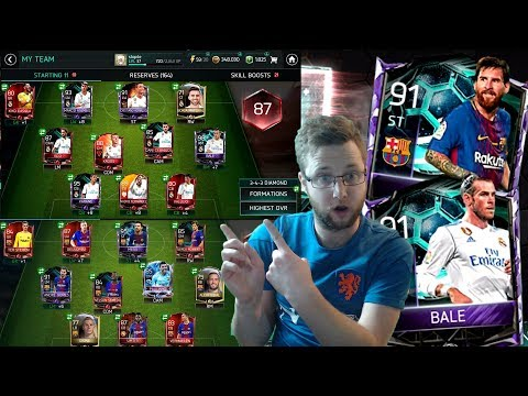 Full Real Madrid and Barcelona Squad Builders in FIFA Mobile 18! New Master Messi and Bale Cards