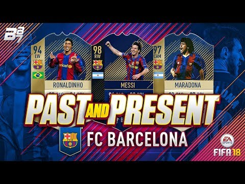 PAST AND PRESENT BARCELONA SQUAD BUILDER! | FIFA 18 ULTIMATE TEAM