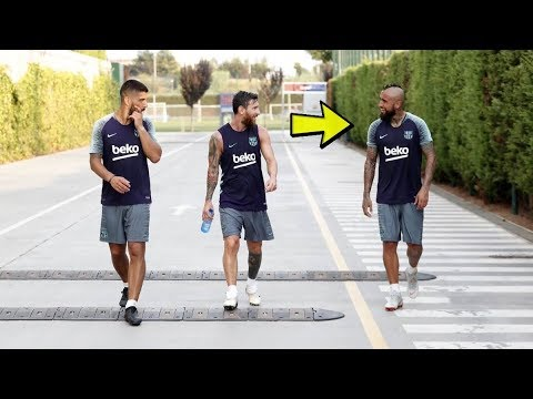 Arturo Vidal 1st Training in Barcelona – ft. Messi, Suarez, Coutinho [06/08/2018]