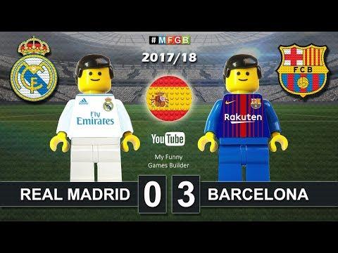 Real Madrid vs Barcelona 0-3 • El Clasico • LaLiga 2018 (23/12/2017) ElClasico Lego Football