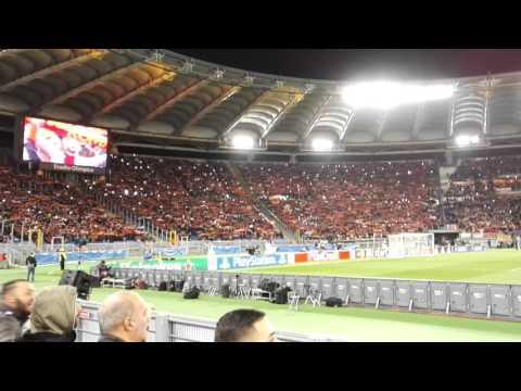Anthem Hymne – 70.000 – AS Roma vs. Real Madrid – 17.02.2016 – LIVE