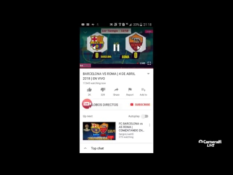 fc barcelona vs roma full match live now