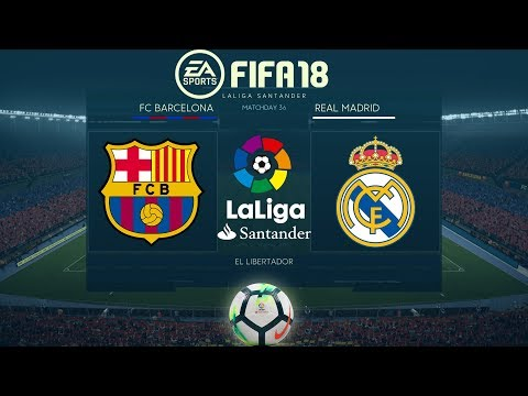 FIFA 18 Barcelona vs Real Madrid | La Liga 2017/18 | El Clásico | PS4 Full Match