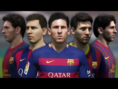 Lionel Messi from FIFA 06 to 16 (Face Rotation and Stats)