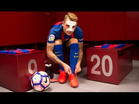 BEHIND THE SCENES: Lucas Digne's presentation as a new FC Barcelona player