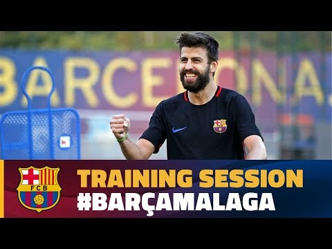 FC Barcelona: last training session before Málaga match
