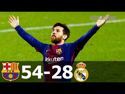 FC Barcelona vs Real Madrid 54-28 All Goals in La Liga from 2008-2019 HD 720p by TehFuriousD