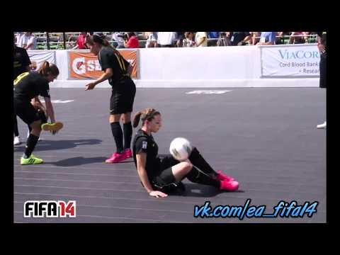 FC Barcelona Girl football (soccer) freestyle mix