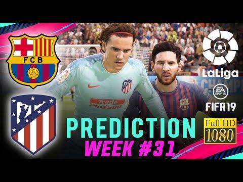 BARCELONA vs ATLÉTICO MADRID | FIFA 19 La Liga Predict Matchday 31 | Broadcast Camera – 1080HD