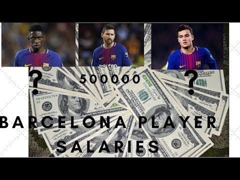 Barcelona Player Salaries 2018 | Barcelona Players Wage 2018(Updated)